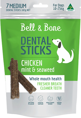 Chicken, Mint & Seaweed Dental Sticks Large