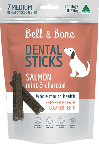 Salmon, Mint & Charcoal Dental Sticks Large
