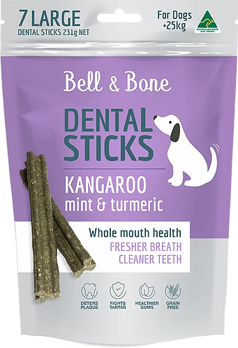Kangaroo, Mint and Turmeric Dental Sticks Large