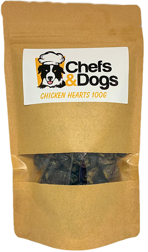 Dehydrated Chicken Hearts 100g