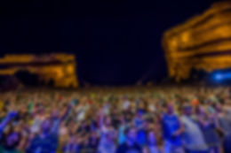 Red Rocks Concert Crowd