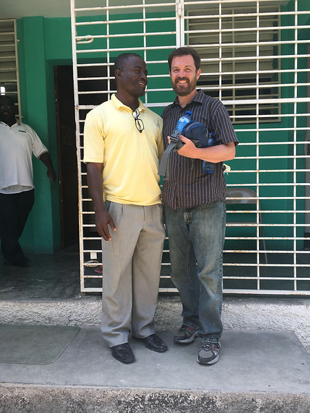 Philippe Berger and Corey Almond, Executive directors of the Haiti Village Project