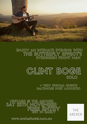 Clint Boge The Butterfly Effect Concert