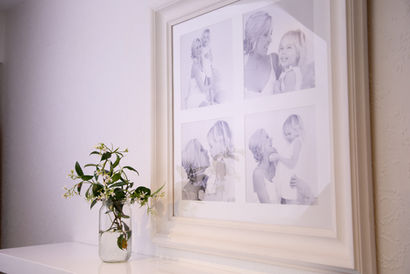 4 series framed photo of mother and daughter by Angela Scott photographer