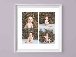Framed studio baby photo series