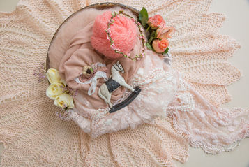 A small selection of the newborn and baby photo props available for creative photoshoots in the studio