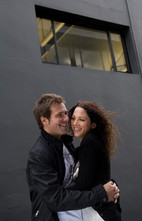 Couples urban professional photoshoot on location in Auckland by Angela Scott Photography