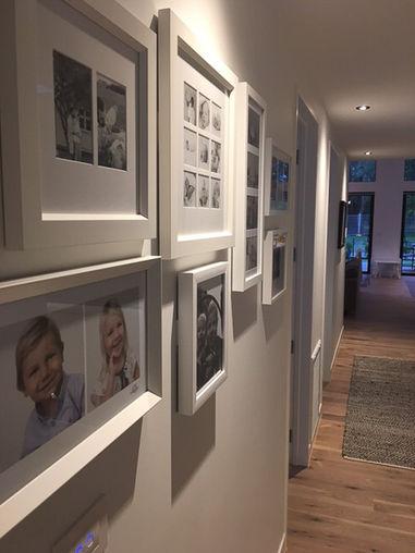 Samples of framed portraits in the Auckland studio of Angela Scott photographer