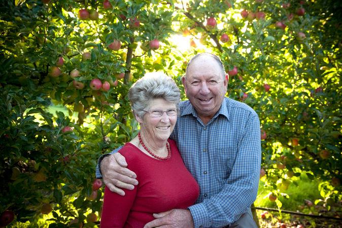 Older couple portrait on location photoshoot