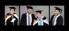 Studio graduation photo series with friends by professional photographer Angela Scott