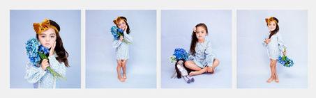 Cute studio child photoshoot series