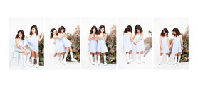 Photo series of siblings with flowers in the Auckland studio of professional photographer Angela Scott