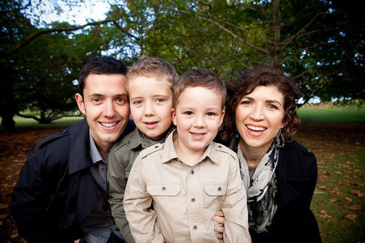 Close up family portrait on location with Angela Scott photographer