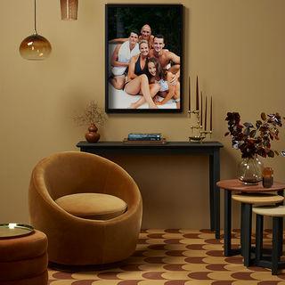 Family photo portrait on display