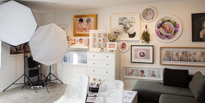 Inside Angela Scott photography studio