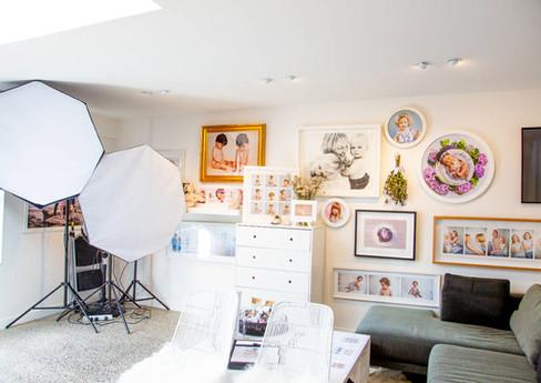 Interior of Auckland studio of Angela Scott Photography