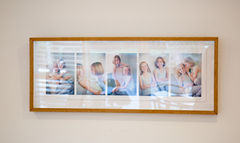 Framed series of photos of siblings in a fun family photoshoot by photographer Angela Scott