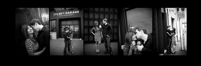Series of black and white photos from a couples photoshoot in Auckland by photographer Angela Scott