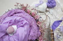 A small selection of the newborn photo props available at Angela Scott's photography studio