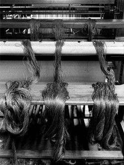 Linen Warp on the Loom Bench