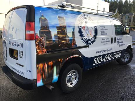 Portland Mechanical Van Wrap (Fleet Project)