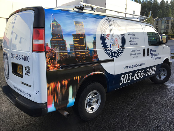 Portland Mechanical Van Wrap (Fleet Project)