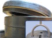 Люк колодца с резьбовым соединением