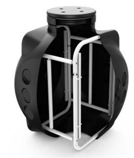 Колодец ККТ-2 с металлокаркасом