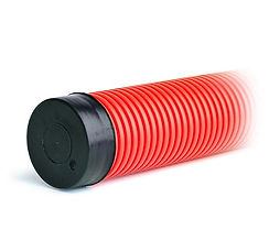 Труба электротехническая гофрированная красная