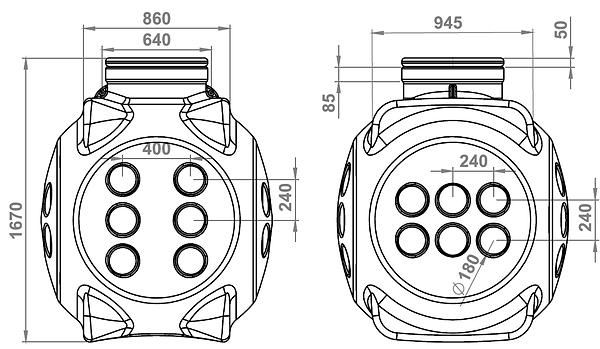 Кабельный колодец ккт-2 с металлокаркасом, колодец ккт-2 умк, точные размеры