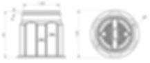 Кабельный колодец КС-1, точные размеры, чертеж