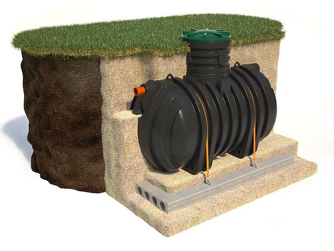 пожарный резервуар, накопительная подземная емкость, пластиковый колодец, септик
