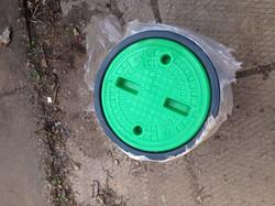 Люк для кабельного колодца зеленый