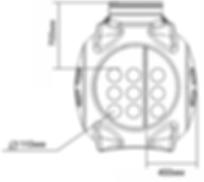 схема ввода кабеля в колодец