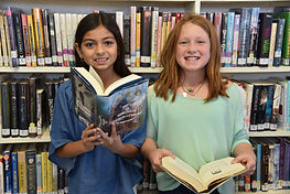 Marathon Public Library -teens with book