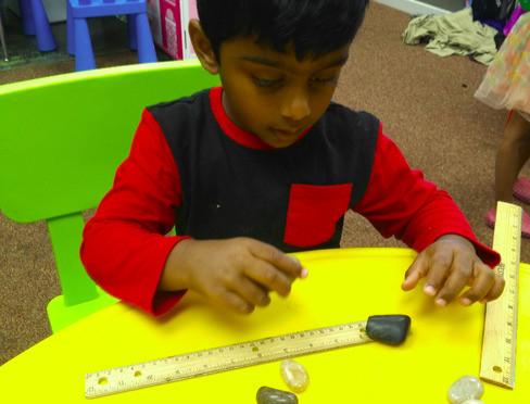Aarudh measuring rocks