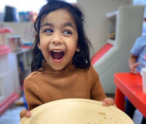 Fatima made a happy plate