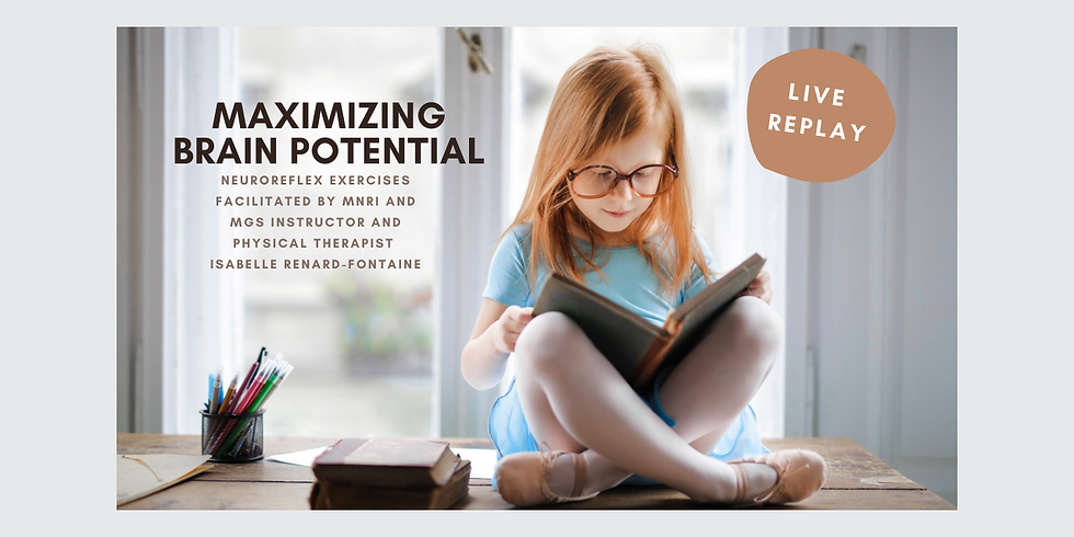 9.10 @ 1 PM Eastern -> Live REPLAY: Maximizing Brain Potential