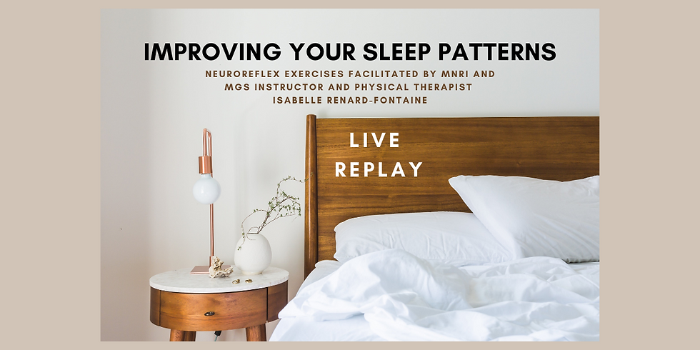 7.16 @ 5 AM Eastern -> REPLAY: Improving Your Sleep Patterns