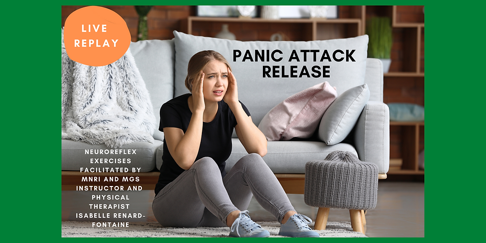 10.22  @ 5 AM Eastern -> Live REPLAY: Panic Attack Release