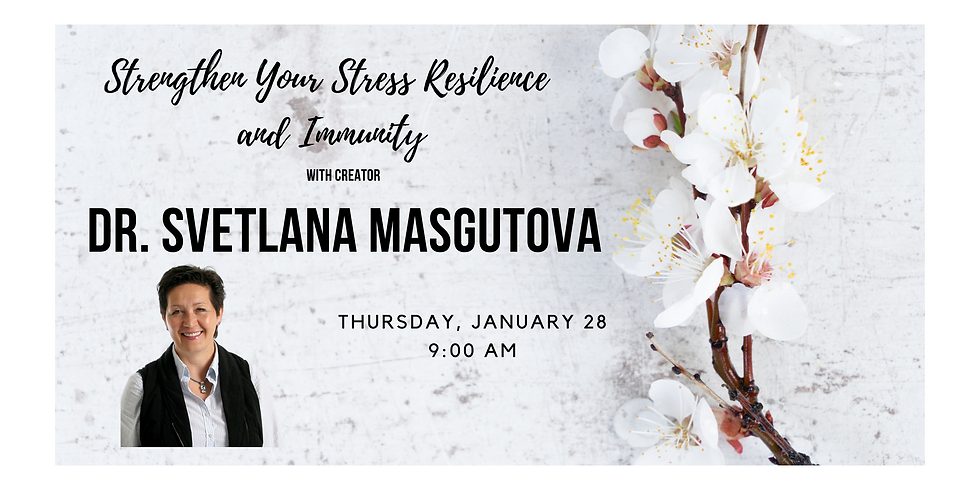 Strengthen Your Stress Resilience Morning Exercises 1.28 at 9:00 AM