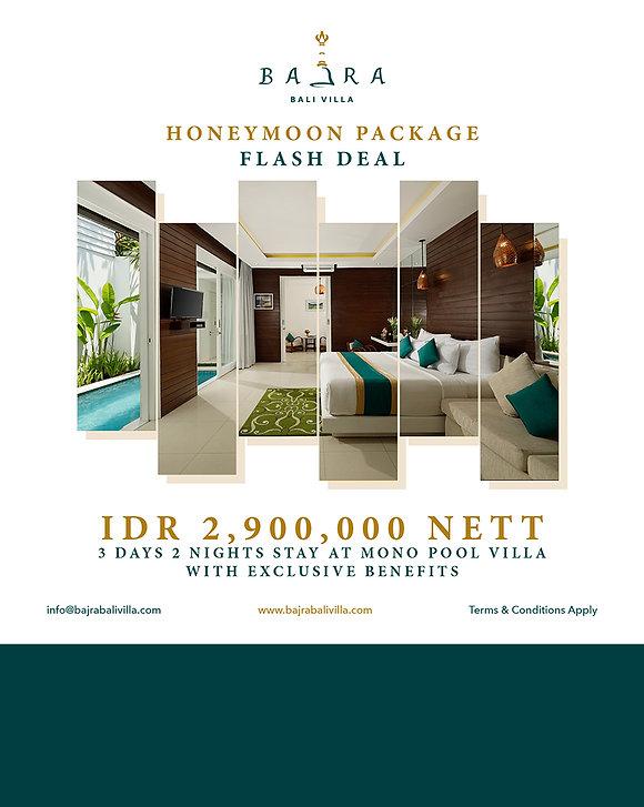 4.9 Honeymoon Package Flash Deal 15 sept