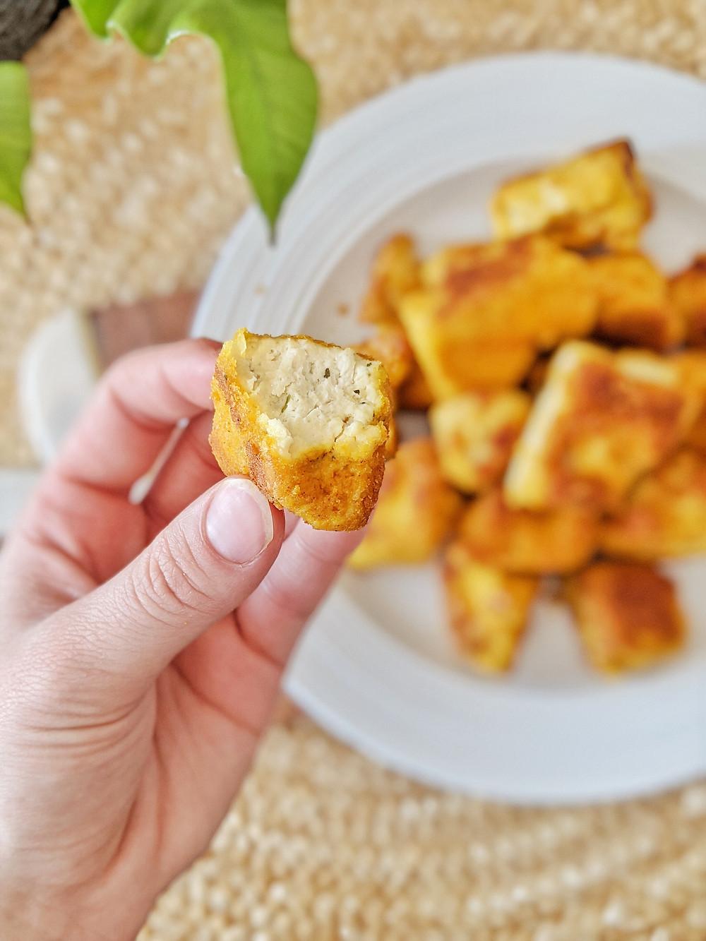 Tofu popcorn végétalien