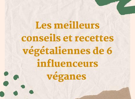 Les meilleurs conseils et recettes végétaliennes de 6 influenceurs véganes