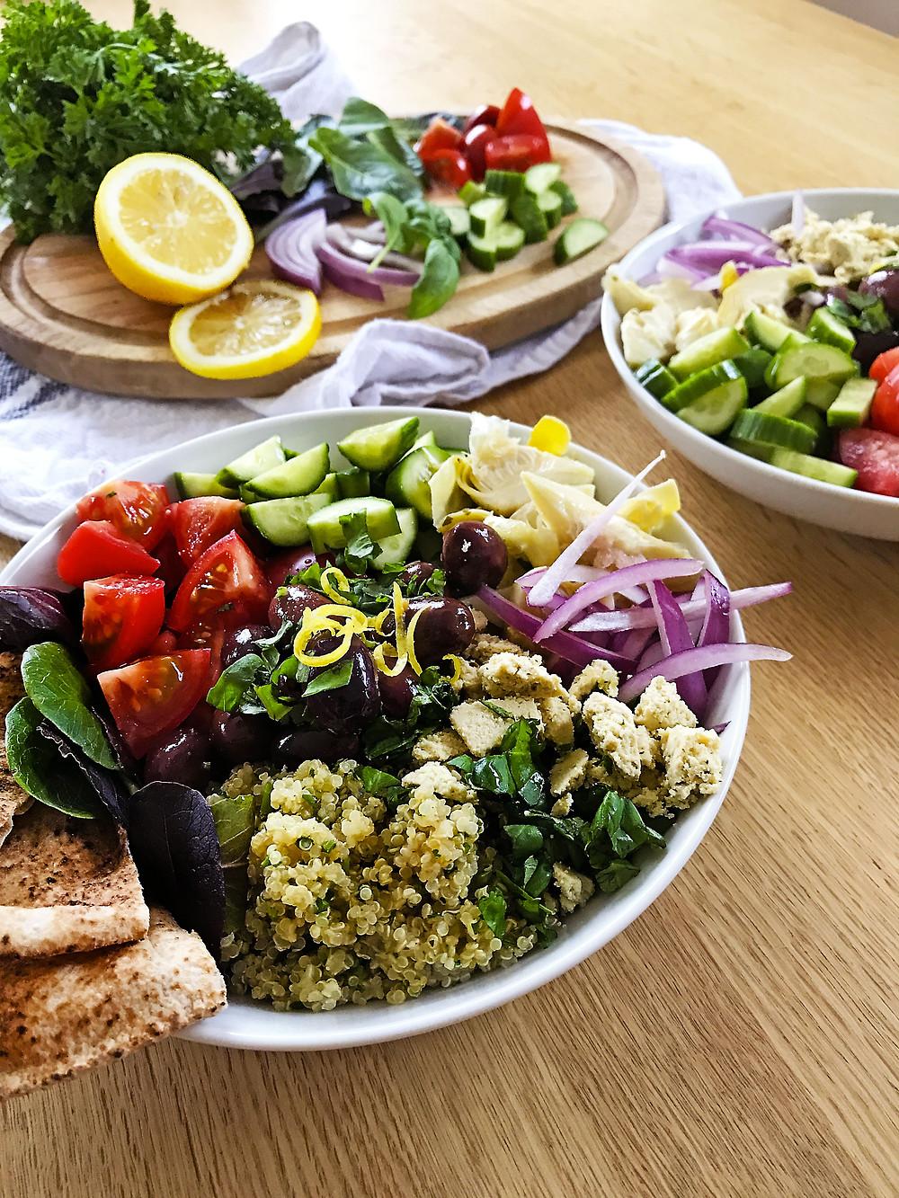 Bol grecque végétalien