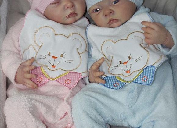 Bebês reborns gemeos kit mouses