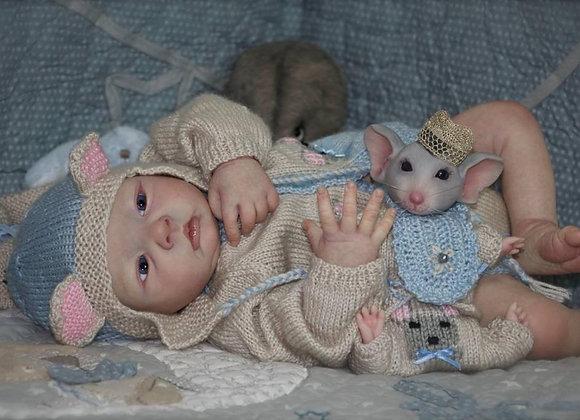Bebê reborn kit Mouse acordado