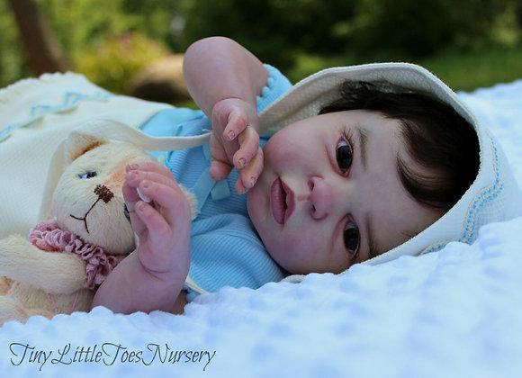 Bebê reborn noah acordada