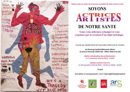 Actrices/Artistes Femmes VIH avec le Planning Familial Lille novembre 2014