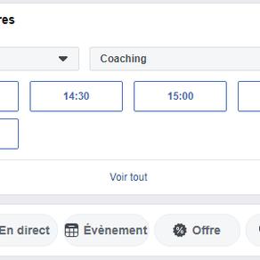 Réservation de rendez-vous sur votre page Facebook